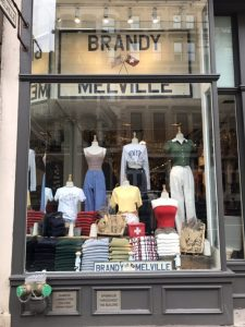 ソーホーにあるファッションショップ