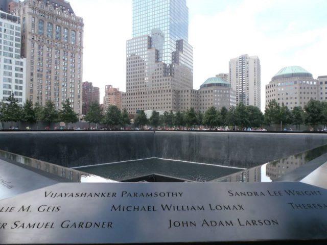 ニューヨーク観光地として有名になった9.11を追悼する場所