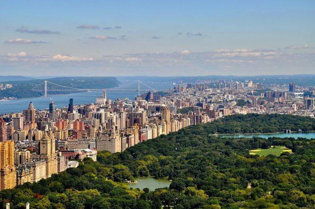 ニューヨークの定番観光地のセントラルパーク