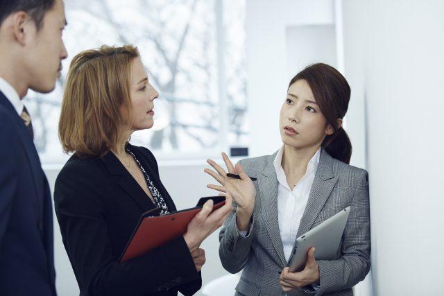 英語が話せる女性社員