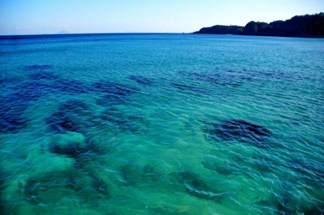 透明度が高い下田の海