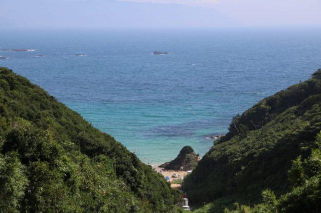 下田の九十浜海水浴場