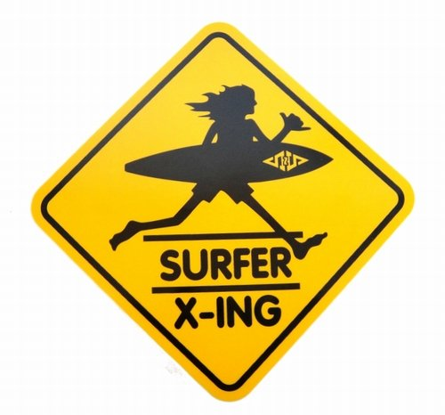 ハワイの定番サーフショップのステッカー