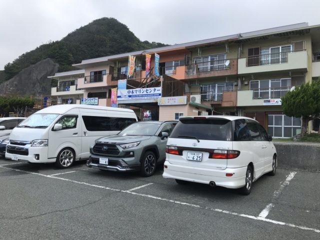 ヒリゾの宿と駐車場