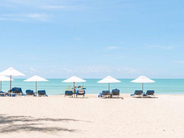 カオラックの観光地であるビーチ