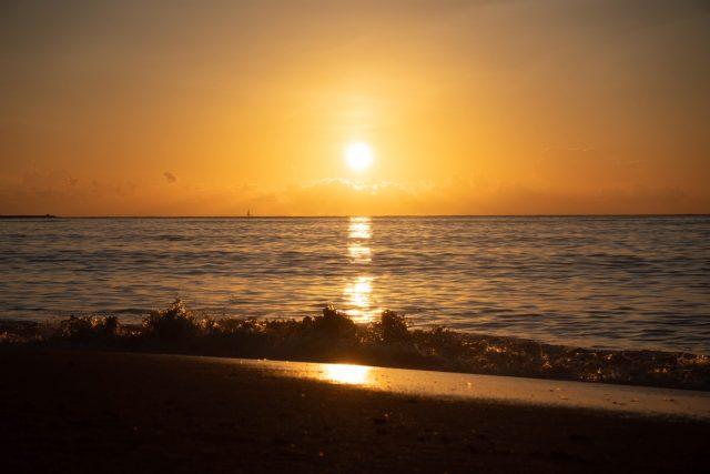 サロジンの綺麗な夕日