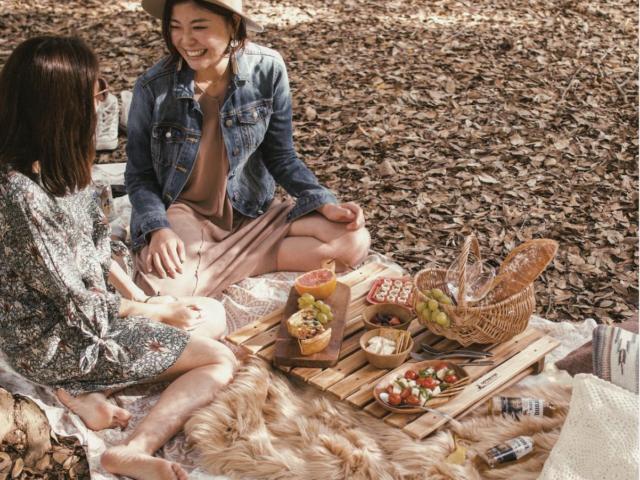 ピクニックの持ち物が完璧な2人