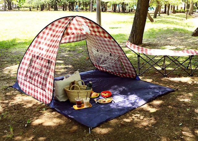 ピクニックの持ち物で必須のポップアップテント