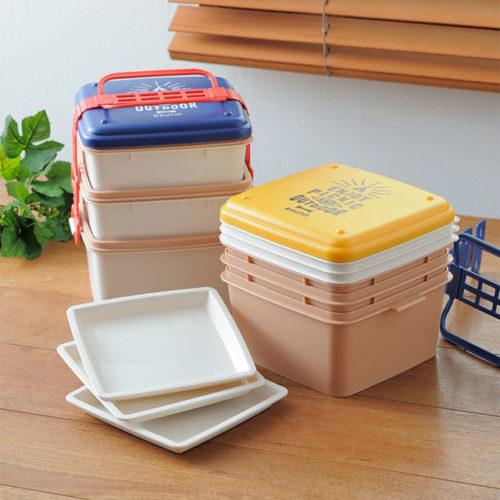 小さくたためるピクニックの弁当箱