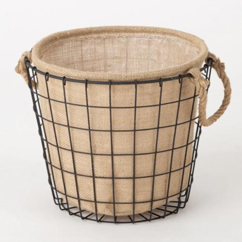 ニトリのワイヤーバスケットの鉢カバー